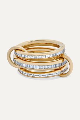 Spinelli Kilcollin Manava Set Of Three 18-karat Gold Diamond Rings - 6