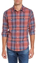 Bonobos Men's Slim Fit Plaid Flannel Sport Shirt