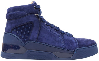 Christian Louboutin Blue Suede Trainers