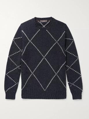 Loro Piana Baby Cashmere-Jacquard Sweater