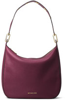 MICHAEL Michael Kors Raven Large Leather Shoulder Bag, Plum