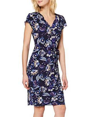 Yumi Indian Flower Print Jersey Wrap Dress