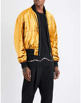 Haider Ackermann Crushed Velvet Bomber Jacket