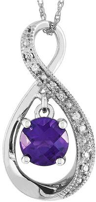 Non Branded 14K 0.03 Ct. Tw. Diamond & Amethyst Necklace