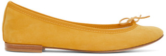 Repetto Yellow Suede Cendrillon Ballerina Flats