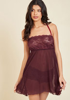 ModCloth Live and Allure Nightgown and Panties Set in Maroon in M