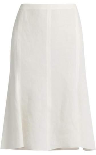 Calvin Klein Collection Laflair panelled linen skirt