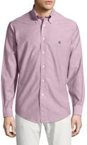 Brooks Brothers Oxford Solid Regent Cabernet Sportshirt
