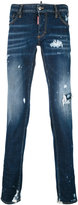 DSQUARED2 distressed skinny jeans - men - Cotton/Polyester/Spandex/Elastane - 42