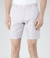 Reiss Reiss Southbury - Cotton And Linen Shorts In Grey, Mens