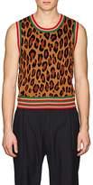 Comme des Garcons Men's Leopard-Pattern Jacquard Sweatervest