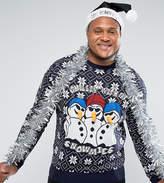 Brave Soul PLUS Holidays Chilling Snowmen Sweater