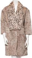 Thakoon Cheetah Printed Fur Coat