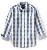 Nautica Big Boys 8-20 Button-Front Long-Sleeve Plaid Shirt