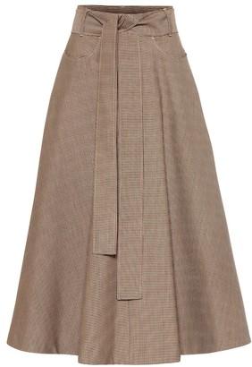 MSGM Wool-blend midi skirt