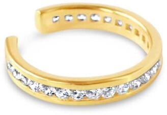 Glamrocks Jewelry Pave Ear Cuff- Gold