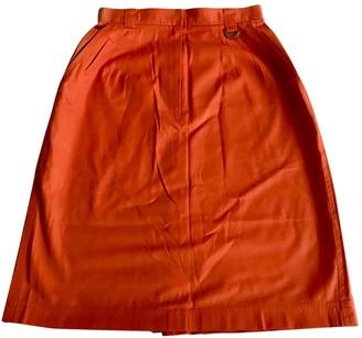 Christian Dior Orange Cotton Skirts