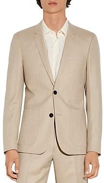 Sandro Jupiter Wool Flannel Suit Jacket