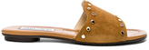 Jimmy Choo Suede Nanda Flats with Studs in Brown.