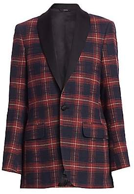 R 13 Women's Oversized Plaid Blazer