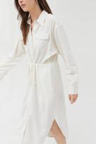 Urban Outfitters Edison Linen Button-Down Shirt Dress