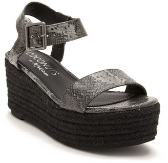 Matisse Sunchaser Snake-Embossed Platform Sandal