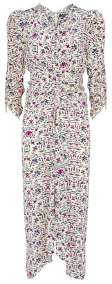 Isabel Marant Albi Gathered Printed Dress