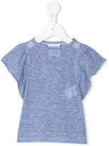 Douuod Kids - semi-sheer flared sleeve T-shirt - kids - Linen/Flax/Viscose - 9 mth