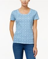 Charter Club Cotton Printed T-Shirt, Only at Macy's