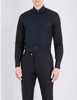 Corneliani Bib-front cotton-poplin shirt