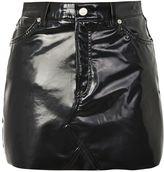 Topshop MOTO Vinyl Mini Skirt