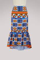 Stella Jean Patterned skirt with ruffles