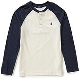 Ralph Lauren Big Boys 8-20 Color Blocked Henley Tee