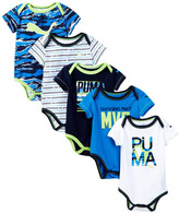Puma 5 Pack Bodysuit (Baby Boys)