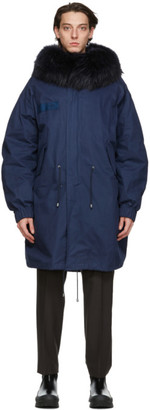 Mr & Mrs Italy Navy Tech Double Cotton Parka