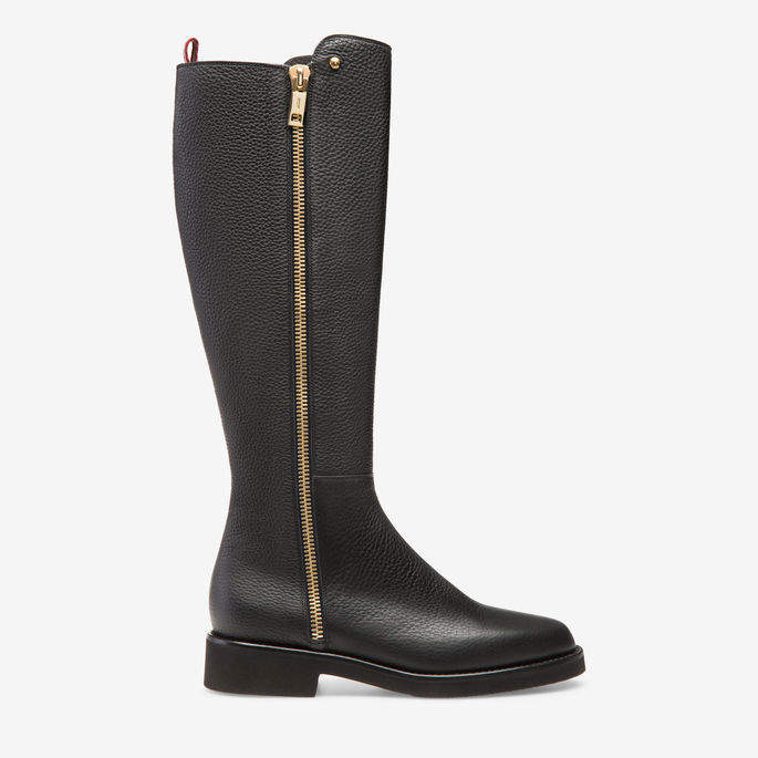 Bally Shante Black, Women's calf leather long boots in black