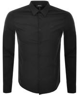 Giorgio Armani Jeans Long Sleeved Slim Fit Shirt Black