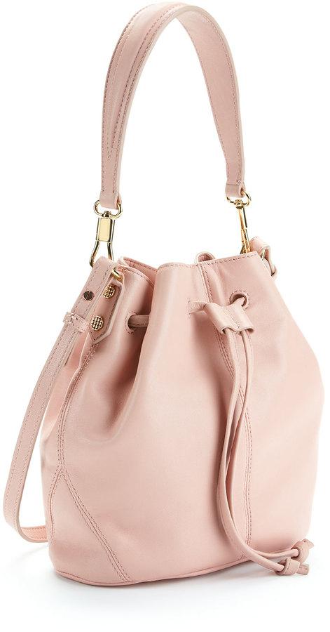 Elizabeth and James Cynnie Mini Bucket Bag, Pink Beach