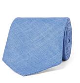 Drake's - 8cm Herringbone Wool, Silk And Linen-blend Tie