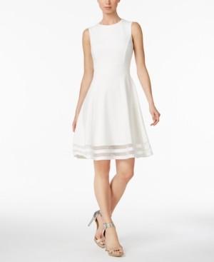 Calvin Klein Illusion-Trim Fit & Flare Dress