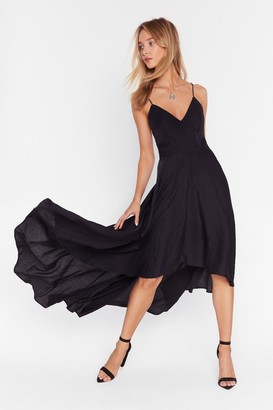 Nasty Gal Womens Rule the Dancefloor Lace-Up Maxi Dress - black - 6