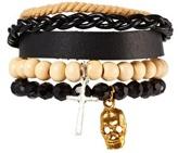Asos Leather Bracelet Pack - Black
