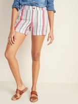 Thumbnail for your product : Old Navy Mid-Rise Everyday Linen-Blend Shorts for Women - 5-inch inseam