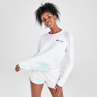Champion Women's Life Boyfriend Tie-Dye Long-Sleeve T-Shirt