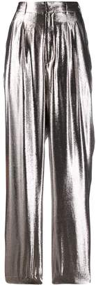 Indress metallic wide-leg trousers