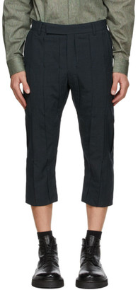 Cornerstone Navy Wool Pleated Trousers