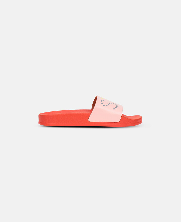 Stella McCartney Stella Logo Slides, Sugar Pink