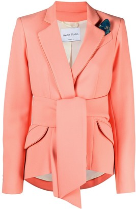 Hebe Studio The Girlfriend belted single-breasted blazer