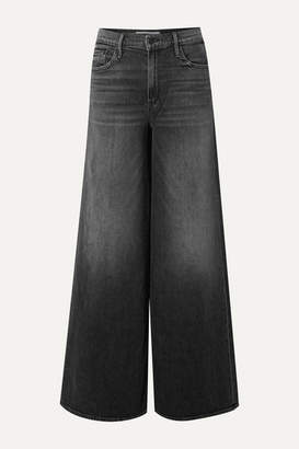 Mother The Undercover High-rise Wide-leg Jeans - Anthracite