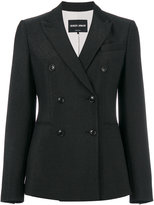 Giorgio Armani double-breasted blazer - women - Silk/Polyamide/Spandex/Elastane/Virgin Wool - 40